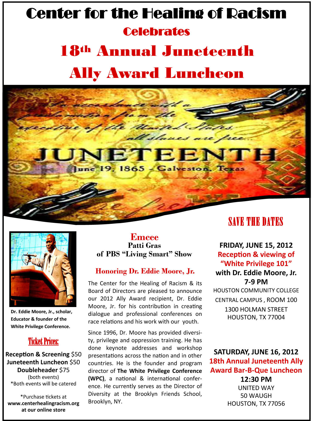 18th Annual Juneteenth Flier