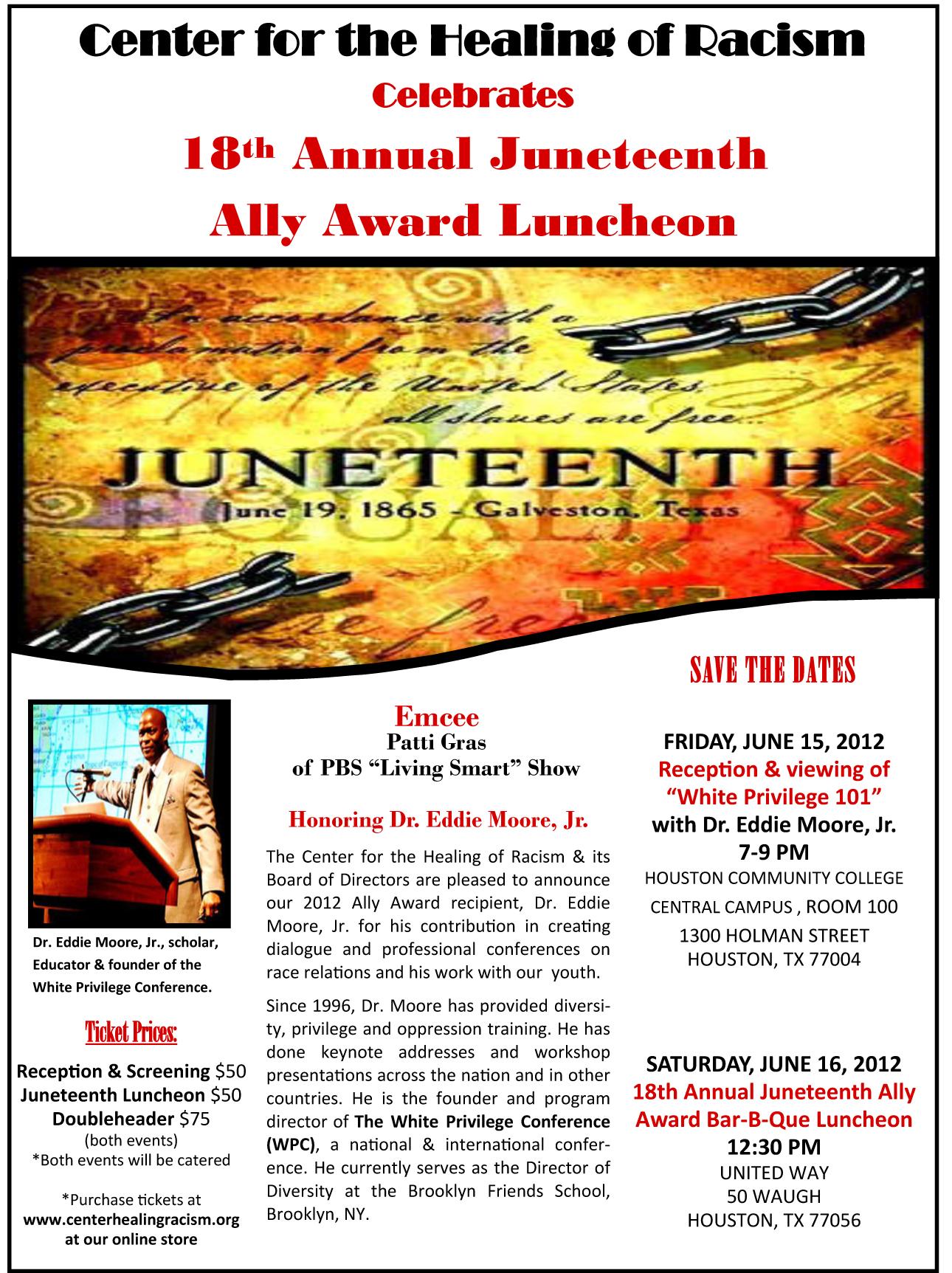 18th Annual Juneteenth Flier