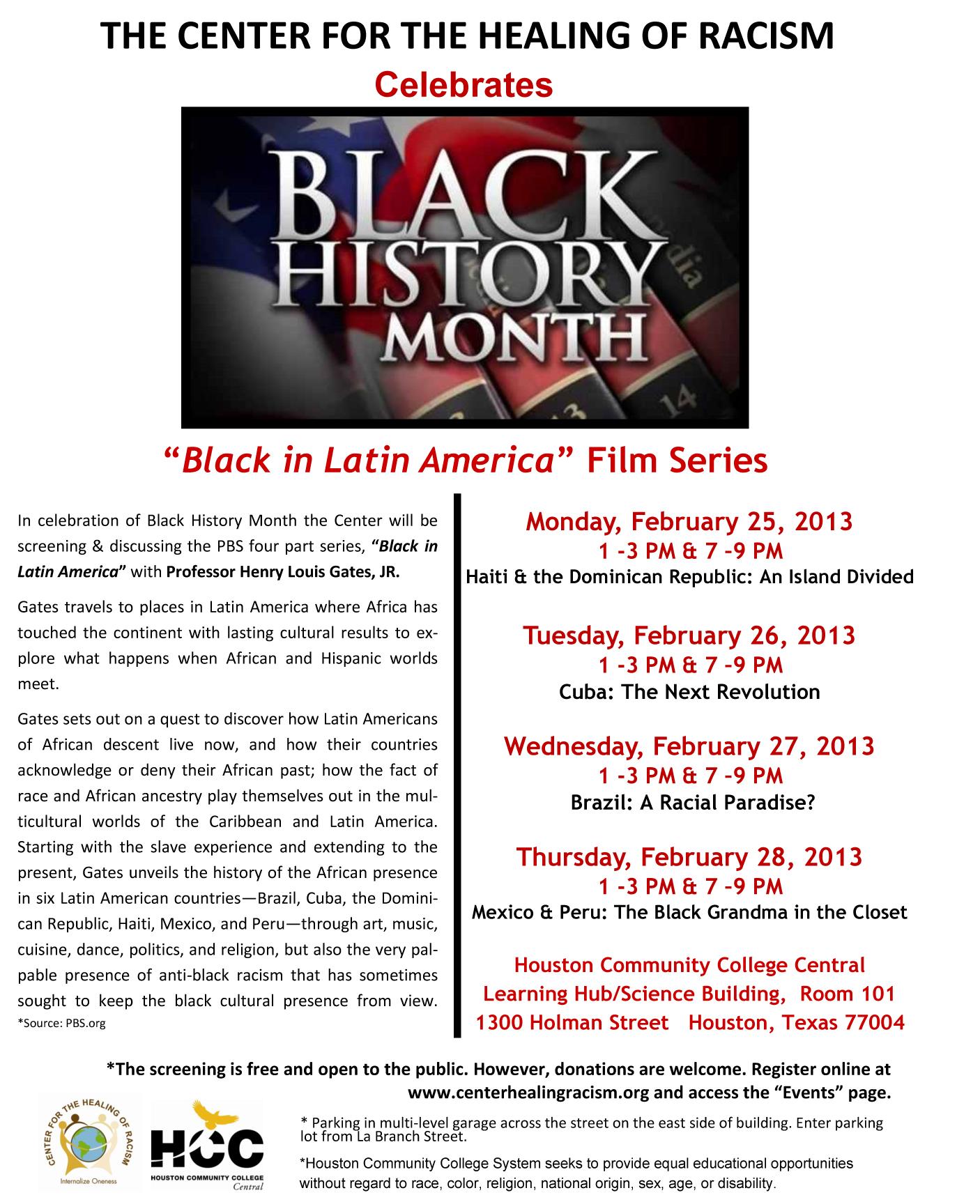 "Black History Month ""Black in Latin America"" Film Series"