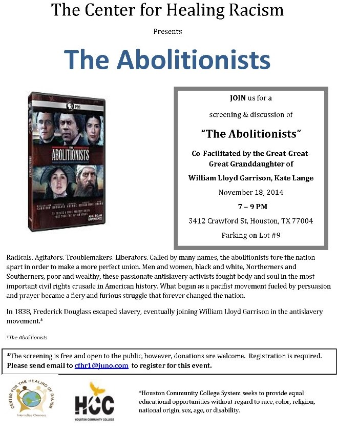The Abolitionists Nov  2014